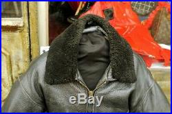 Veste blouson en cuir noir AVIREX G1 original aviateur made in U. S. A. Taille L