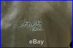Veste blouson en cuir noir SCHOTT NYC original aviateur made in U. S. A. Taille M