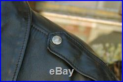 Veste blouson en cuir noir SCHOTT original aviateur made U. S. A taille 46 (L)