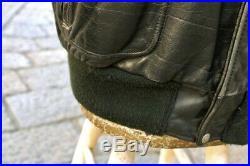 Veste blouson en cuir noir SCHOTT original aviateur made U. S. A taille 50 (L/XL)