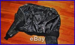 Veste blouson en cuir noir agée SCHOTT 684 Sm vintage taille L/XL