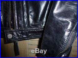 Veste blouson en cuir redskins aspect neuf taile L Slim