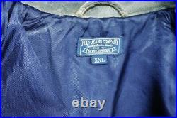 Veste blouson en cuir vieilli RALPH LAUREN vintage original aviator taille XXL