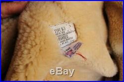 Veste blouson en peau de mouton shearling Bomber cockpit B3 RAF grand taille