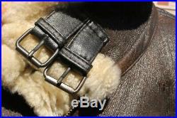 Veste blouson en peau de mouton shearling Bomber cockpit USAF G8 taille XXL