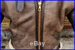 Veste blouson en peau de mouton shearling Bomber cockpit raf b3 stylo taille 50