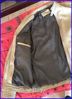 Veste blouson homme cuir / Brun / Style motard Fashion / XL