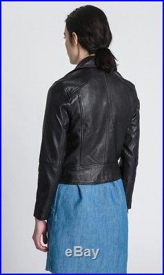 Veste en cuir femme giorgio armani