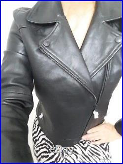 Veste blouson perfecto femme cuir agneau neuf LEVIS taille 38