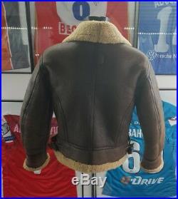 Veste bomber bombardier blouson vest jacket redskins leather cuir b32 army M