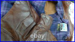 Veste cuir Aero leather custom taille 38 (équivalent 40 pour un blouson)