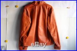 Veste cuir CHAPAL Sport cuir glacé orange XXL Blouson (41151)