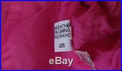 Veste cuir T38/40 M Spencer Cuir Rose Vintage robe jean jupe blouson cuir
