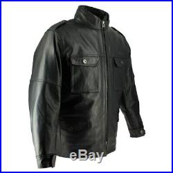 Veste cuir moto Soubirac Upland Noir XL