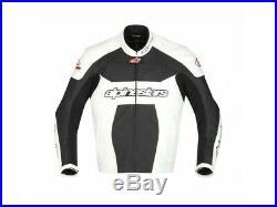 Veste de cuir Alpinestars GP Plus Noir/Blanc