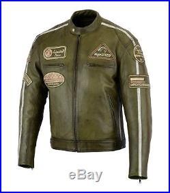Veste de moto en cuir Antiquité style rétro Blouson motard Chopper