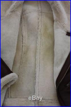 Veste de peau de mouton VANDAMM Veste Homme Blouson Veste En Cuir Veste bomber
