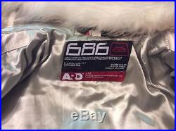 Veste de snowboard ou de ville 686 ARD cuir blanc neuve taille M