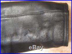Veste dhomme ¾, en cuir noir, motard, circa 1980, blouson, Cromwell