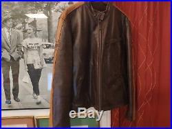 Veste en Cuir Homme Daytona 500 Blouson Jacket Taille 2XL (EU 54)