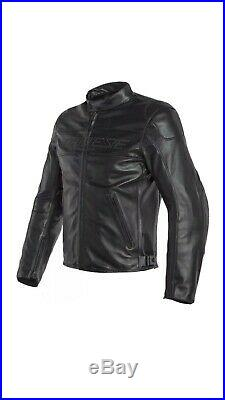 Veste en Cuir Moto Dainese Bardo Noir Cuir Black Jacket 50