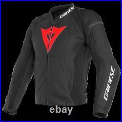 Veste en Cuir Moto Dainese Nexus Noir Rouge 54 Black Lava Rouge Blouson Cuir