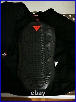 Veste en Cuir Moto Noir Blanc Taille 52 Blouson Cuir avec dorsal