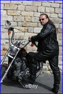 Veste en Cuir Rockabilly Chopper Motard Veste en Cuir Rocker