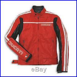 Veste en cuir Ducati 80S rojo Blouson Cuir ducati 80S rouge 9810224
