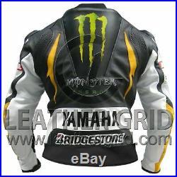 Veste en cuir Yamaha Monster Motorbike Racing