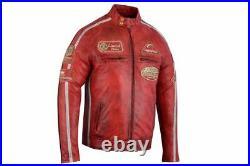 Veste en cuir de moto d'été, veste de motard des hommes avec l'armure de la CE