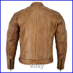 Veste en cuir de moto des hommes, veste de motard d'été avec l'armure de la CE