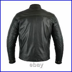 Veste en cuir de moto, veste en cuir de moto avec armure CE, veste pour hommes