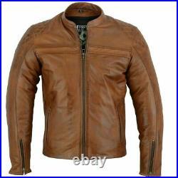 Veste en cuir de moto, veste en cuir des hommes avec l'armure de la CE