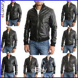 Veste en de Cuir Homme Hommes cuir Veste Veste Blouson Blouson Homme cuir 3z