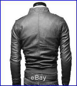 Veste en de Cuir Homme Hommes cuir Veste Veste Blouson Blouson Homme cuir N3