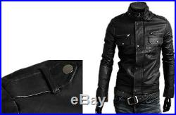Veste en de Cuir Homme Hommes cuir Veste Veste Blouson Blouson Homme cuir N6