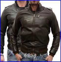 Veste en de Cuir Homme Hommes cuir Veste Veste blouson Homme cuir modSM3P