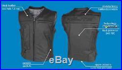 Veste gilet cuir HELITE Custom airbag gonflable moto blouson harley air bag