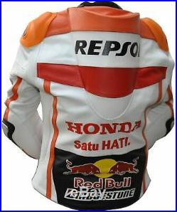 Veste moto Racing Veste en cuir repsol Honda moto cuir de vachette motogp