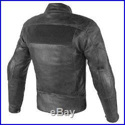 Veste moto dans la peau Dainese Bandes D1 noir blouson cuir