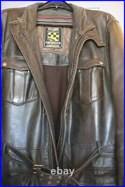 Veste moto vintage anglaise HELSTON'S xxl