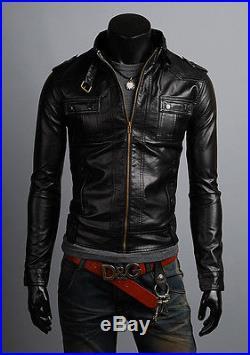 Veste veste en Cuir Homme Hommes cuir veste Veste Blouson Blouson Homme cuir N11