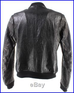 Vestes Hommes BELSTAFF 71020163 Braydon Blouson Black Cuir Noir Made Italy New