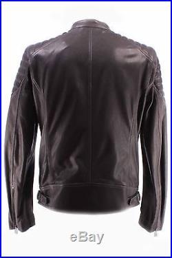 Vestes Hommes BELSTAFF 71020247 Stoneham Blouson Man Bronze Green AW16 Cuir New