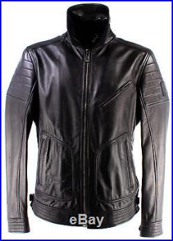 Vestes Hommes BELSTAFF 71020249 Powell Blouson Black Limited Cuir Noir Nouveau