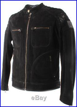 Vestes Hommes BELSTAFF 71020597 Weybridge 2017 Blouson Man Black Cuir Noir New