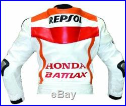 Vêtement En Cuir Motorbike Biker Cuir Veste Moto Cuir Veste Eu 48-54-60