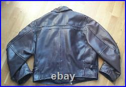 Vintage BLOUSON VESTE CUIR REDSKINS Type B32 Manteau Leather Jacket Biker Ancien