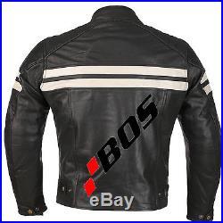 Vintage Homme Motard Blouson Manteaux MOTO Biker Motard Vestes veste en cuir XL